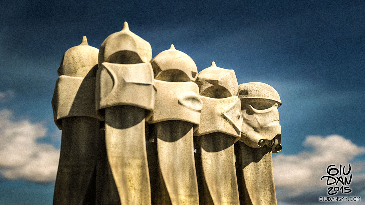 La pedrera and the stormtrooper