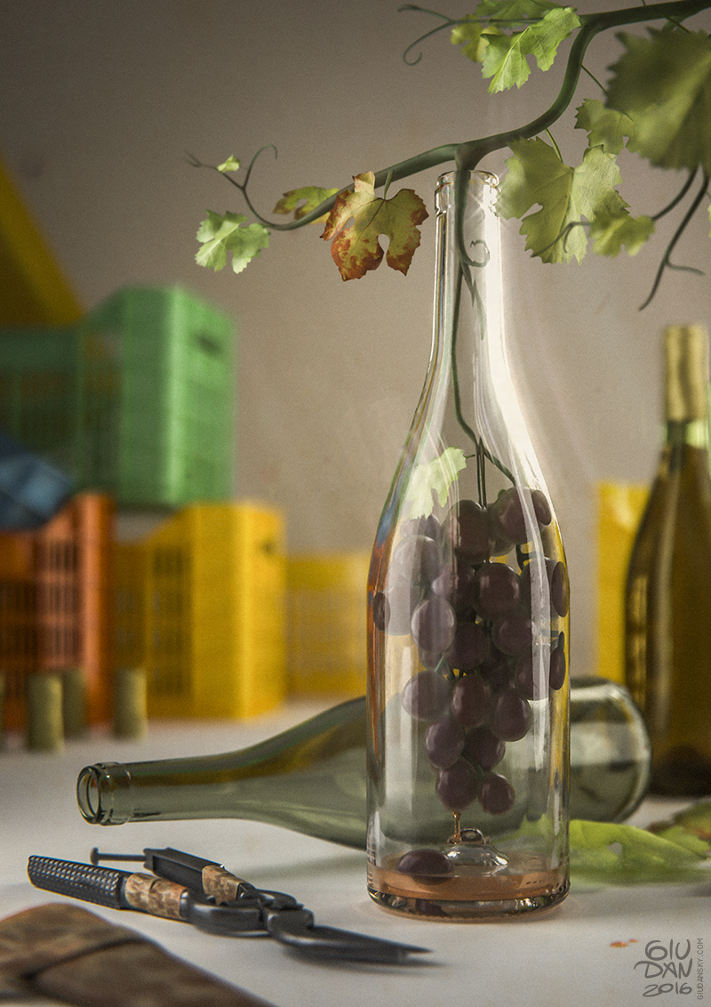 Grape in the bottle